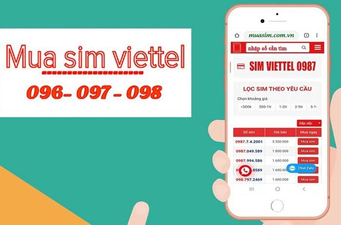 Chọn mua sim Viettel online và những điều cần biết